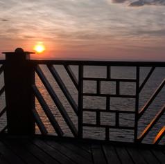 Sunset desde el Hilltop Hotel de Kigoma, Tanzania