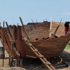 Astillero en la playa de Ujiji en Kigoma, Tanzania