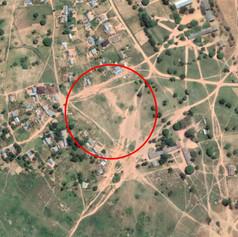 Vista aérea del terreno previsto para la construcción de la escuela