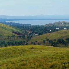 Vistas desde la colina de Jakobsen, Kigoma, Tanzania