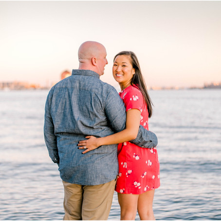 Hannah & ross Baltimore, md engagement session