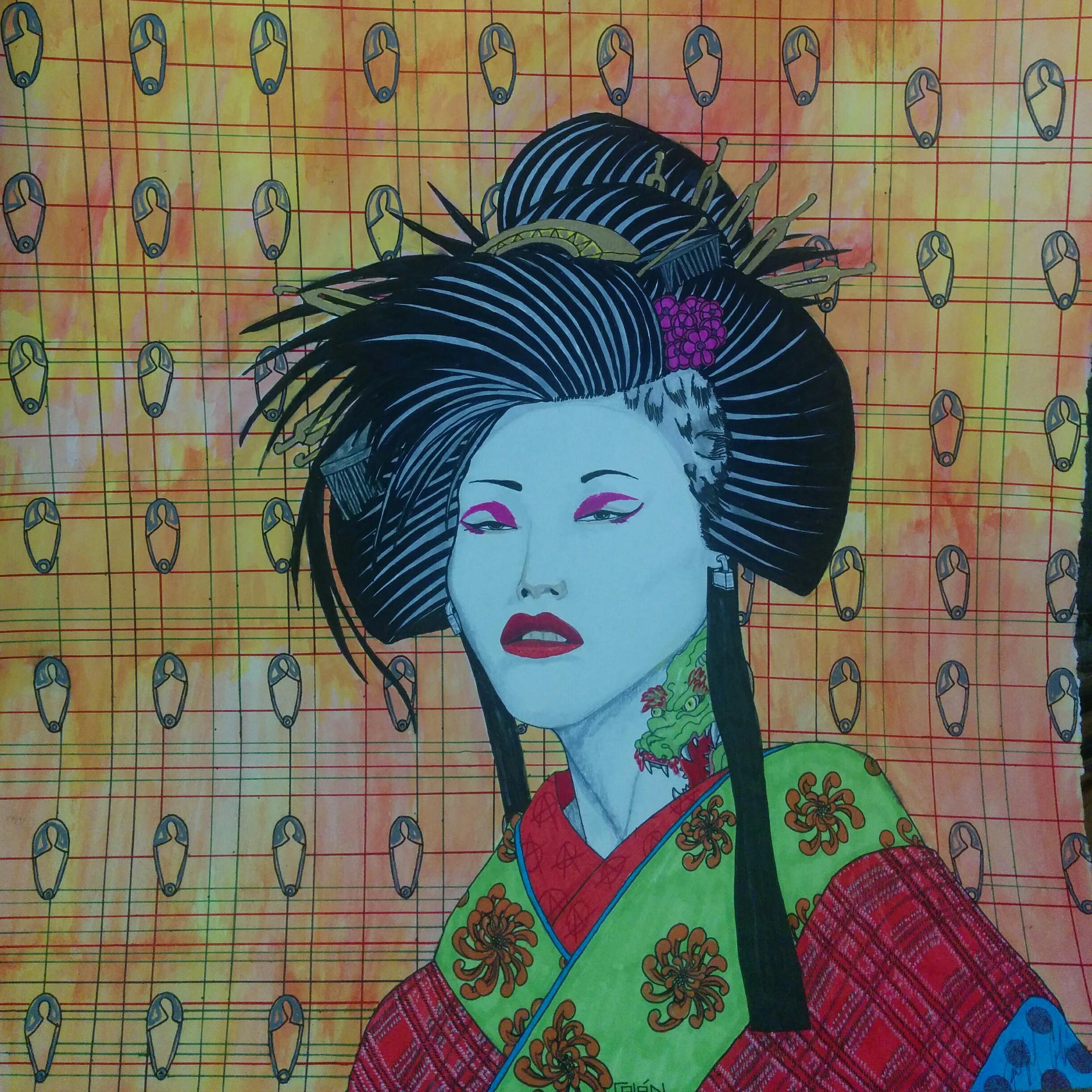 Punk rock Geisha