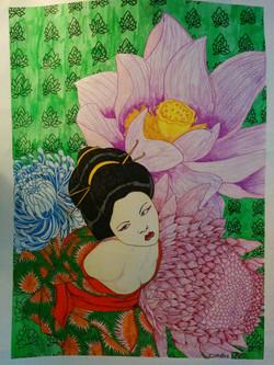 tied flower geisha