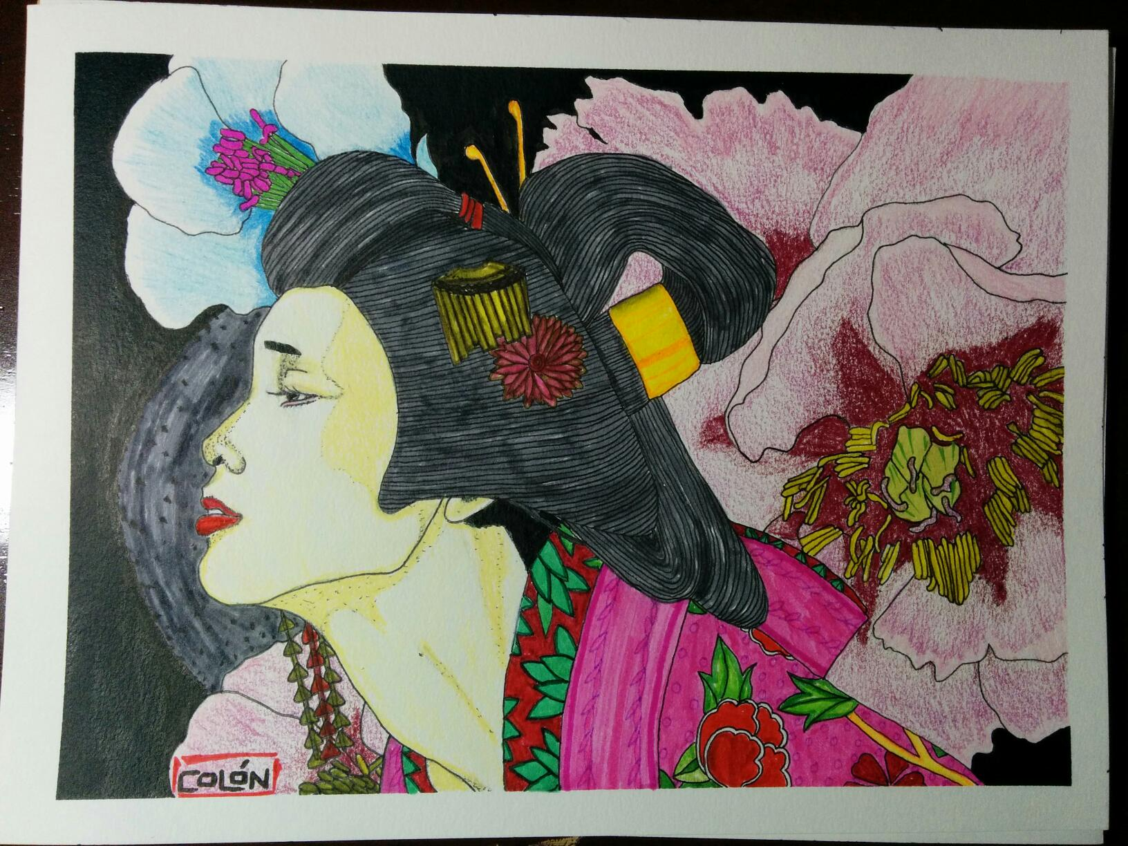 flowered geisha