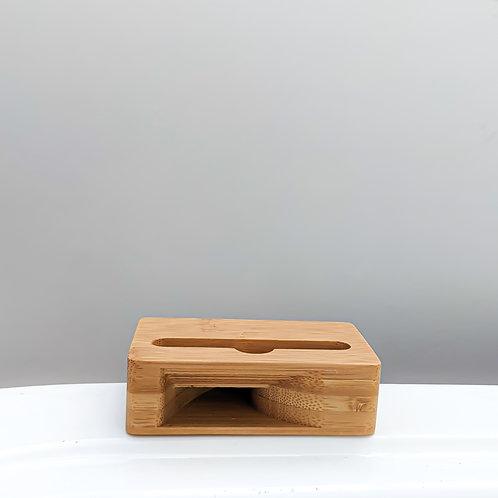 Amplificador de madera para teléfonos móviles