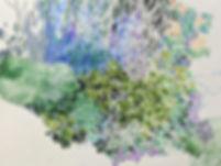 明定由香里 / 「ななめの森」(部分)