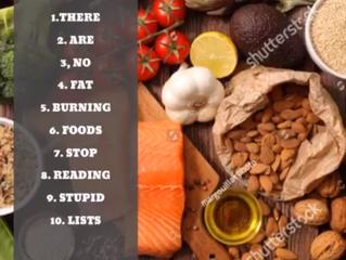 My top 10 fat burning food