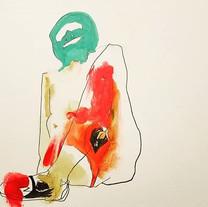 """Amy Morken. """"Cardinal Leg"""""""