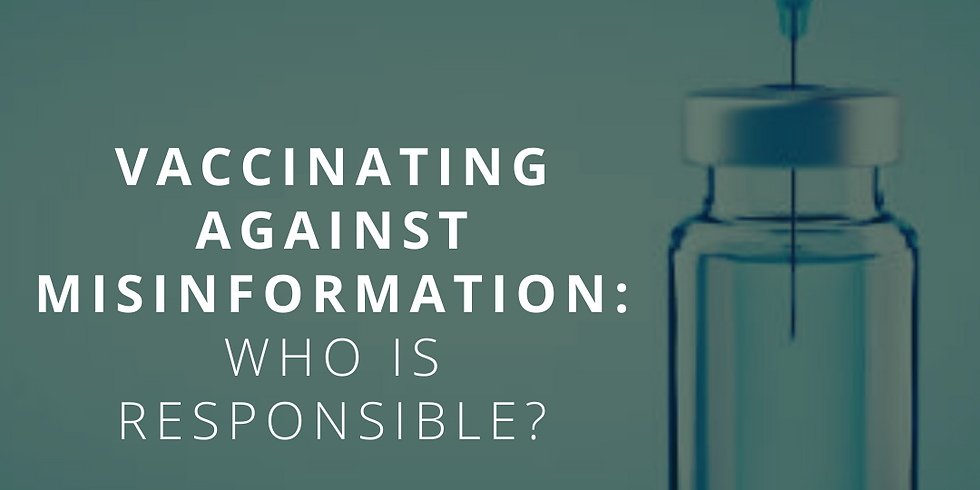 Vaccinating Against Misinformation: Who is Responsible?