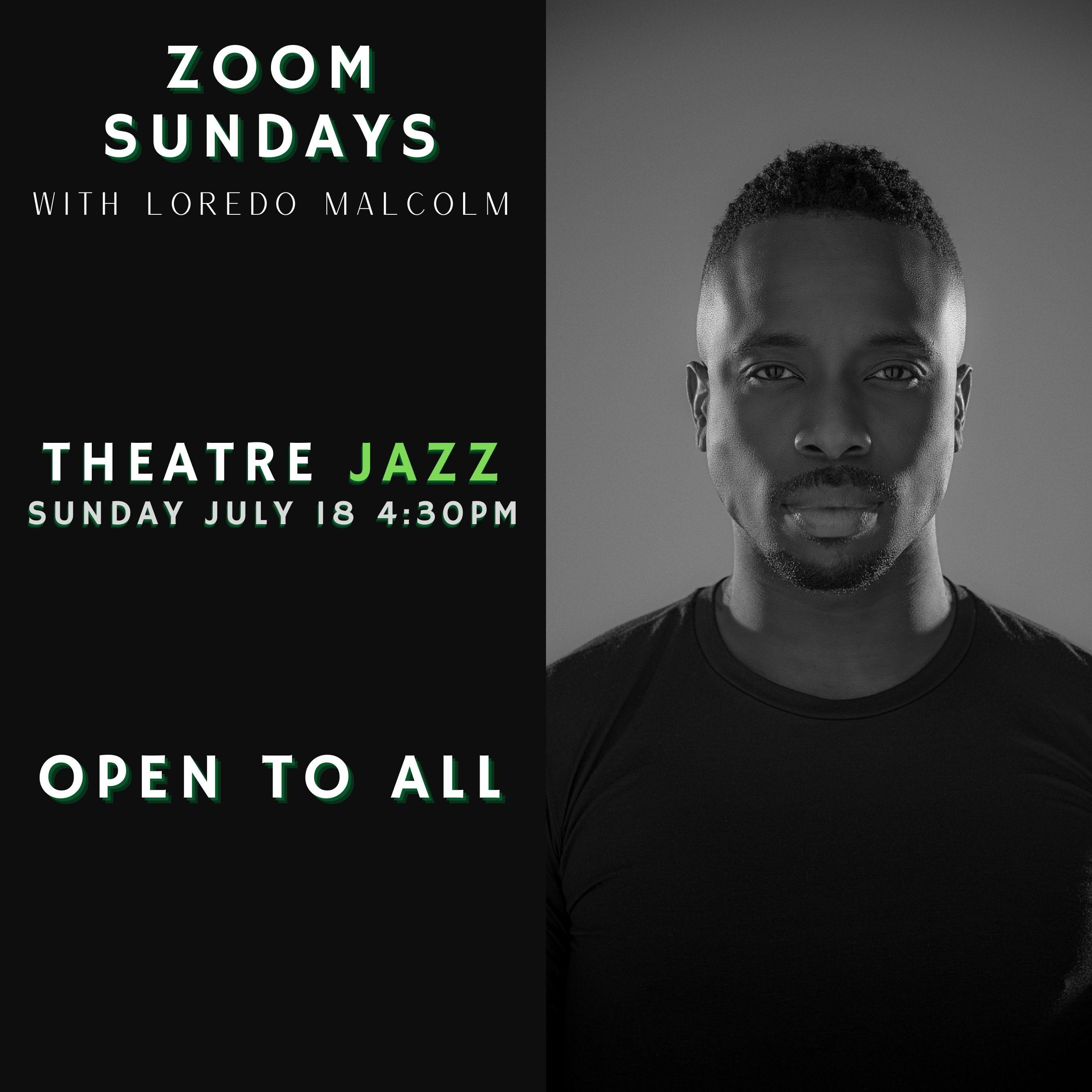 Zoom Sun Theatre Jazz July 18th 4:30PM