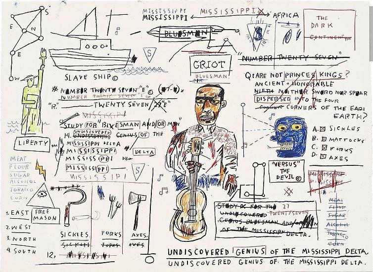 """""""Undiscovered Genius"""" by Jean-Michel Basquiat"""