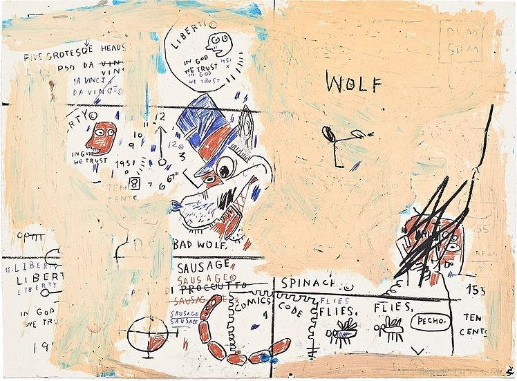 """""""Wolf Sausage"""" by Jean-Michel Basquiat"""