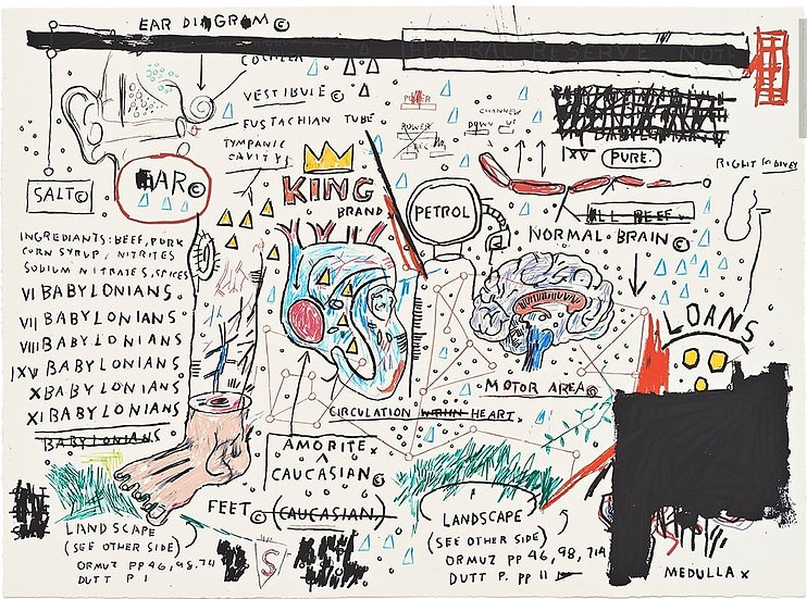 """King Brand"" by Jean-Michel Basquiat"