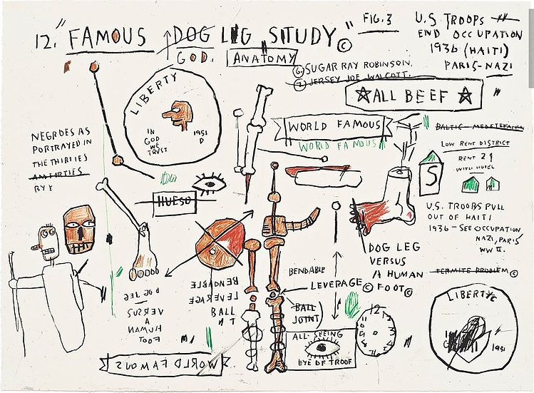 """Dog Leg Study"" by Jean-Michel Basquiat"