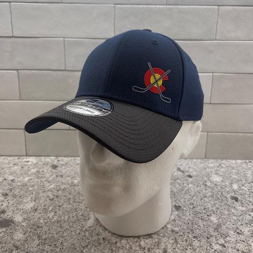 Navy/Gray Flexfit Co Curved Bill Hat