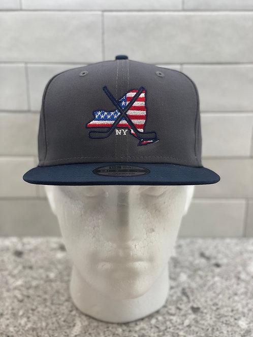 New York Logo Flat Bill Snapback