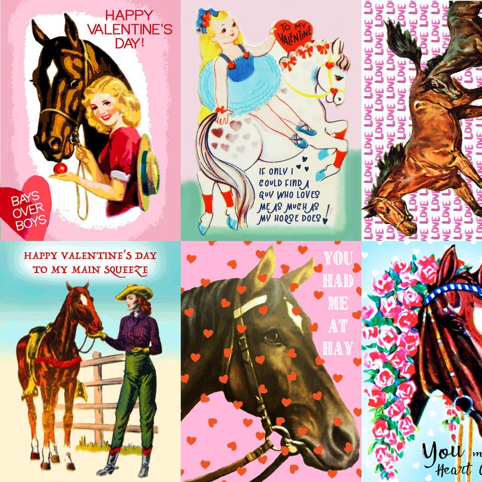 Pony Macaroni Valentine Cards