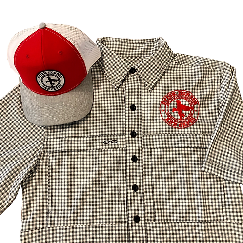 Combo-GameGuard Embroidered Logo Shirt and Logo Patch Ball-Cap