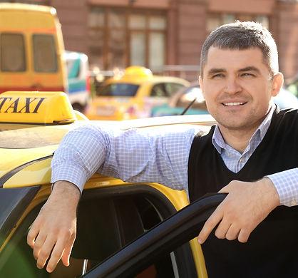 Taxiförare med taxilegitimation