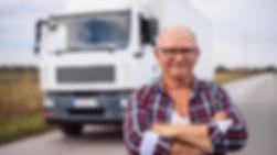 Lastbilschaufför med lastbilskörkort