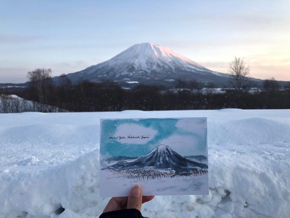雪浪原創二世古明信片