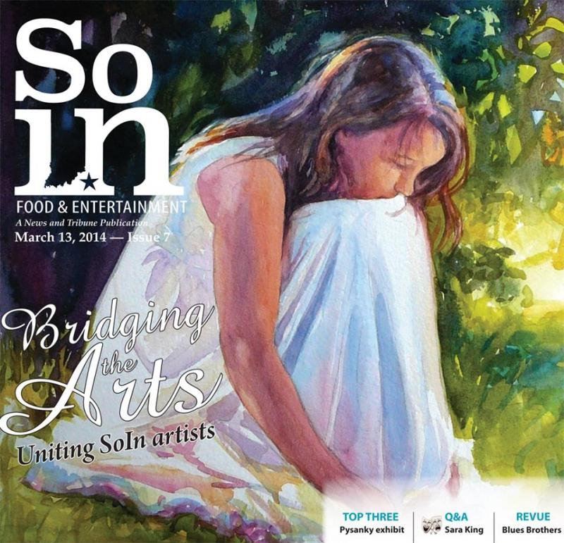 Tamara's watercolor on cover of local magazine