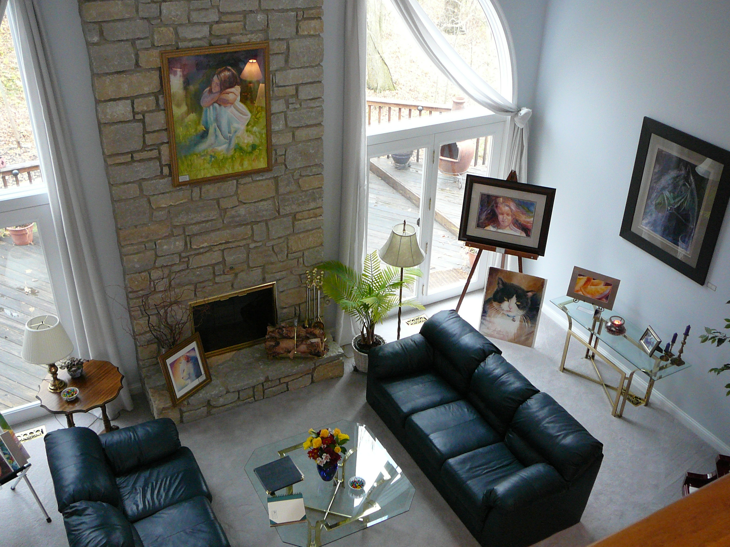 Original watercolors on display in home
