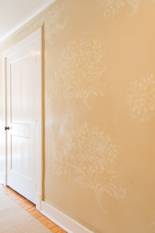 Hydrangea Pattern on walls