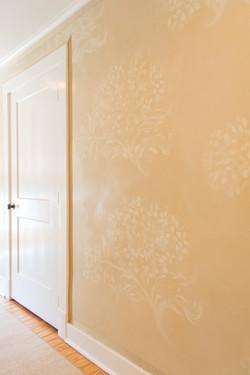 Hydrangea Pattern on walls
