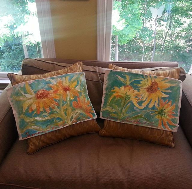 Hand painted Decorative Pillow Covers