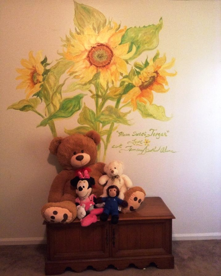 Sunflowers in Little Girls Room