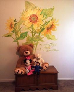 Sunflowers in Little Girls Room