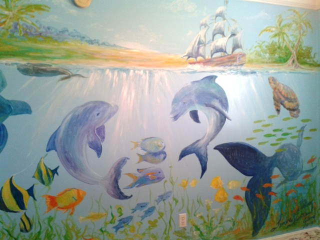 Under the Sea Mural in Baby's Room