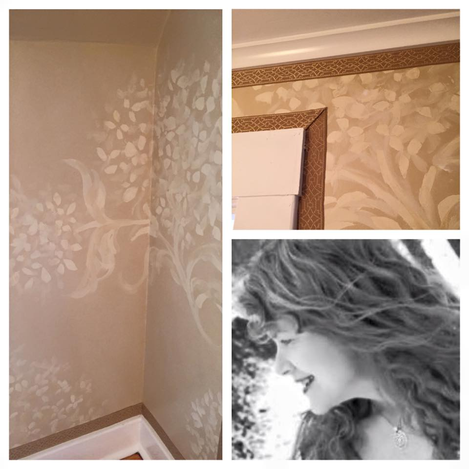 Large Hydrangea Pattern on Walls