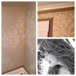 Large Hydrangea Pattern on Walls
