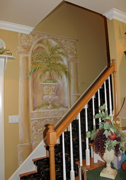 Decorative Painting in Stairway