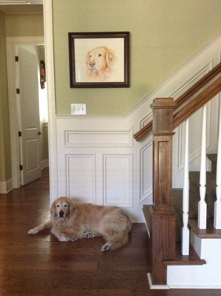 Murphy with his portrait by Tamara