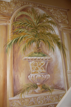 close up of decorative painting