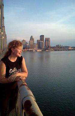 Louisville KY in background