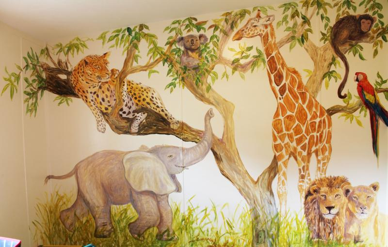 Jungle Animals Theme in Boys Room