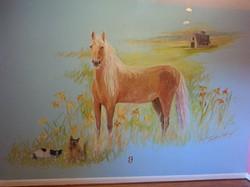 """Creamy"" horse"