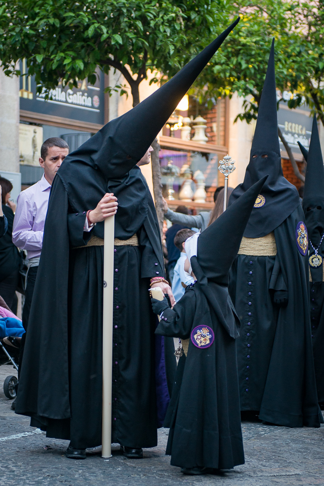 Mother and daughter at Semana Santa