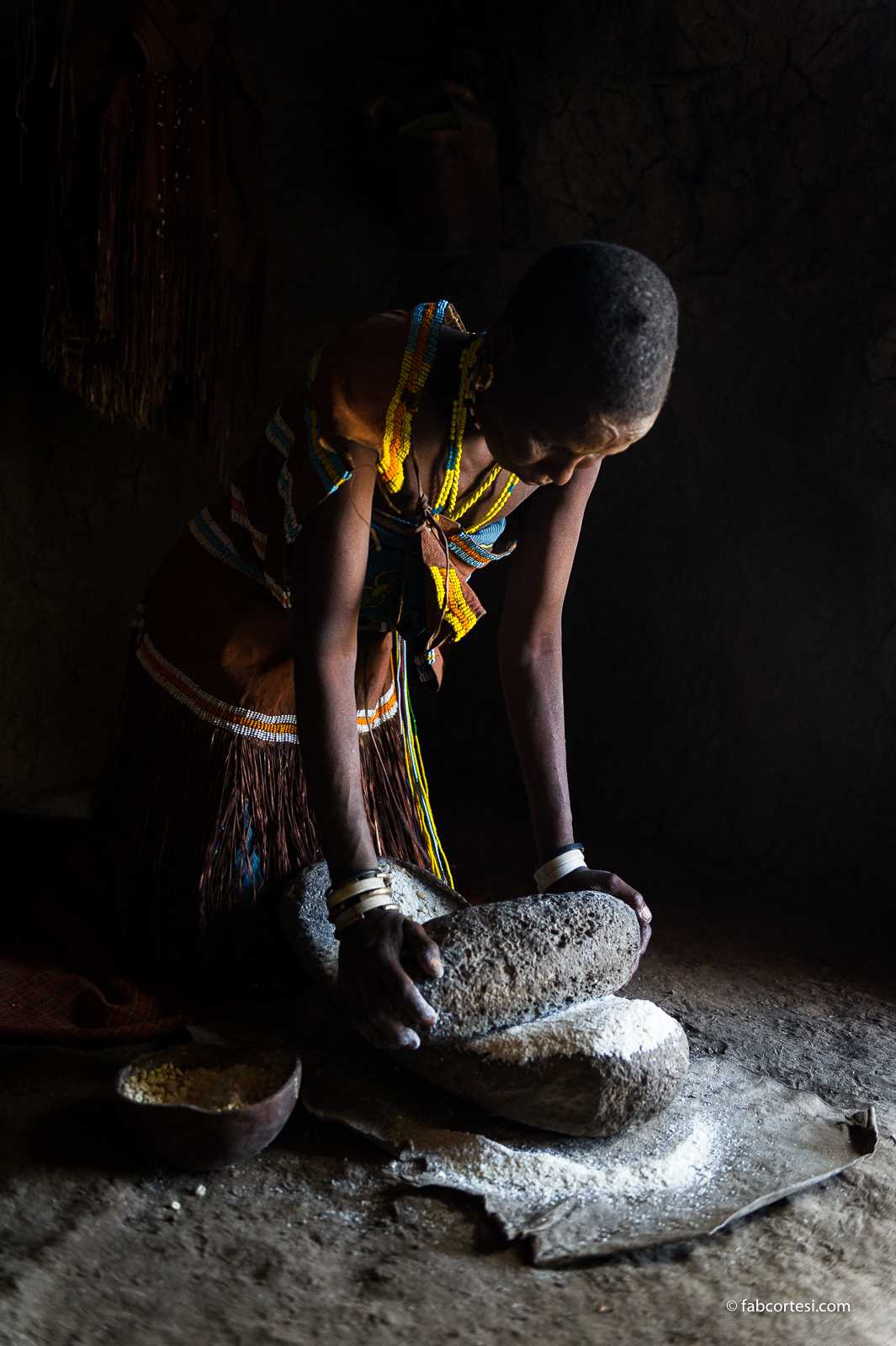 woman making bread Tanzania Africa