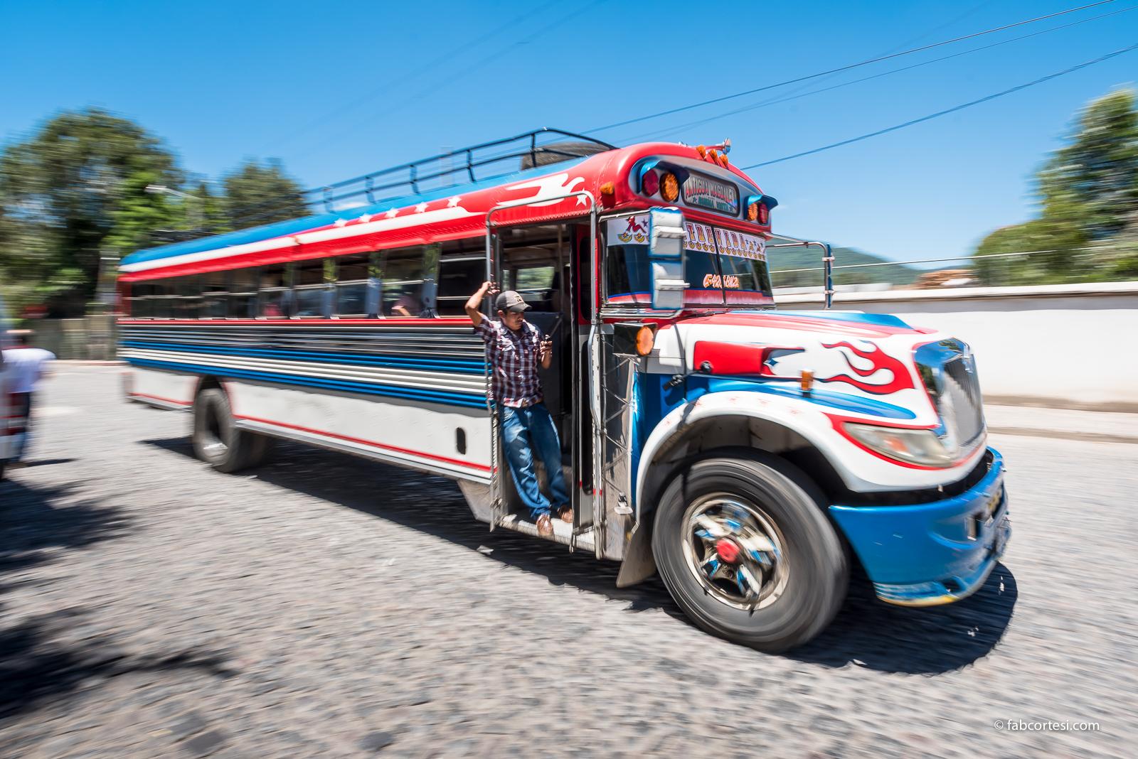 Guatemala Antigua bus
