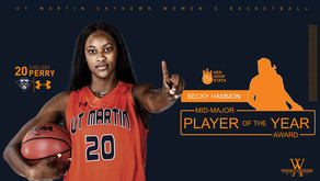 Perry Announced to the Becky Hammon Mid-Major Player of the Year Watchlist
