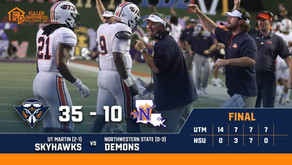 UT Martin Defense Sets the Tone for 35-10 Victory over Northwestern State