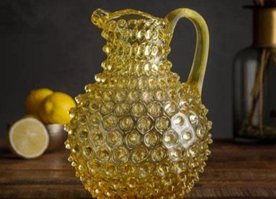 Caraffa in cristallo color giallo