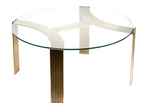 Tavolo da salotto ottone e vetro