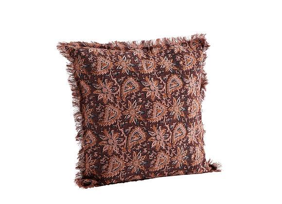 Cuscino cotone color Rubino scuro,rosa e miele