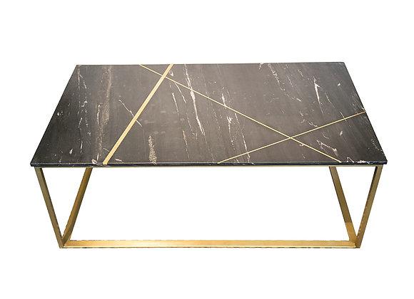 Tavolo da salotto ottone e marmo